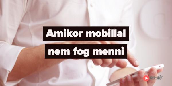 Mobiltelefonos élő közvetítés