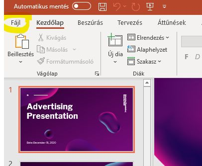 PowerPoint prezentáció átlakítása képpé