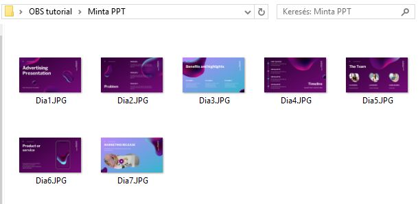 Prezentáció exportálása Powerpointból JPG fájlba